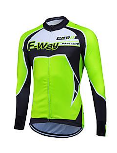 fastcute חולצת ג'רסי לרכיבה לגברים שרוול ארוך אופניים צמרות שמור על חום הגוף עמיד גיזות קלאסי חורף רכיבה על אופניים/אופניייםאדום ירוק