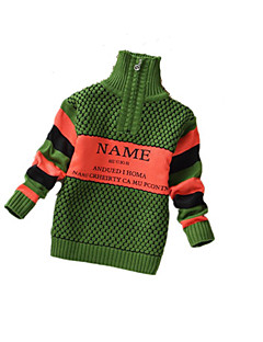 Menino de Suéter & Cardigan,Casual Cor Única Cashmere / Lã Inverno / Primavera / Outono Azul / Verde / Laranja