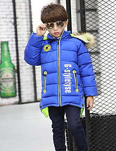 Boy's Casual/Daily Solid Down & Cotton PaddedOthers Winter Black
