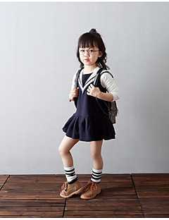 Girl's Going out Solid Dress / Overall & JumpsuitCotton Spring / Fall Blue