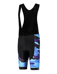 ספורטיבי מכנס קצר ביב לרכיבה יוניסקס נושם / ייבוש מהיר / עיצוב אנטומי / לביש / תומך זיעה אופניים מכנסיים קצרים עם כתפיות פוליאסטר / LYCRA®