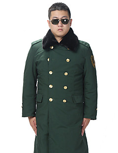 Hiking Softshell Jacket Men's Breathable / Thermal / Warm / Windproof / Wearable Winter Cotton Army Green