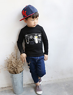 Boy's Casual/Daily Solid Hoodie & SweatshirtCotton Fall Black / Blue / Purple