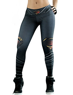 Damer Trykt mønster Legging,Spandex