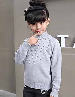 Girl's Casual/Daily Polka Dot Sweater & CardiganWool Winter / Spring / Fall Purple / Gray