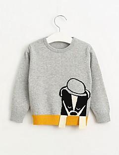 Girl's Casual/Daily Jacquard Sweater & Cardigan,Cotton Spring / Fall Orange / Gray