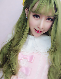 Lolita Wigs Sweet Lolita Lolita Dlouhé / Kudrny Zelená Lolita Paruky 70 CM Cosplay Paruky Jednobarevné Paruka Pro Dámské