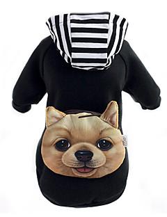 כלבים קפוצ'ונים תיק גב בגדים לכלבים חורף קיץ/אביב חיה חמוד שחור אדום