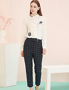Vintage-Rayon / Polyester / Spandex-Micro-elastisch-Slank-Broek-Vrouwen