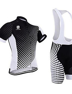 Camisa com Bermuda Bretelle Homens Manga Curta Moto Conjuntos de RoupasSecagem Rápida Design Anatômico Resistente Raios Ultravioleta