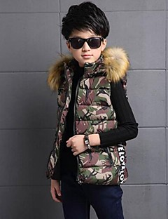 Boy's Casual/Daily Print VestPolyester Winter / Spring / Fall Green / Red / Gray