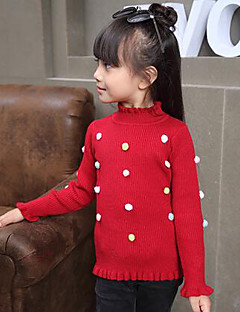 Girl's Casual/Daily Polka Dot Sweater & CardiganWool Winter / Spring / Fall Purple / Red