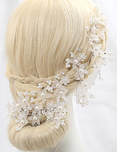 Women's Crystal / Alloy / Imitation Pearl Headpiece-Wedding / Special Occasion / Outdoor Flowers