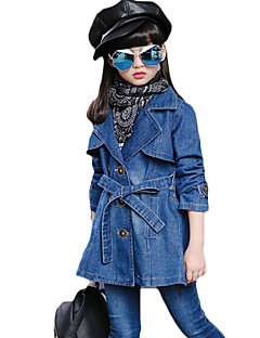 Girl's Casual/Daily Solid Suit & BlazerCotton Spring / Fall Blue