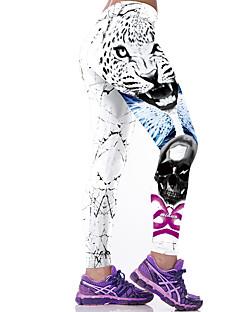 Naisten Kuvio Leggingsit,Polyesteri Spandex