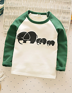 Boy's Casual/Daily Print Hoodie & SweatshirtCotton Fall Brown / Green
