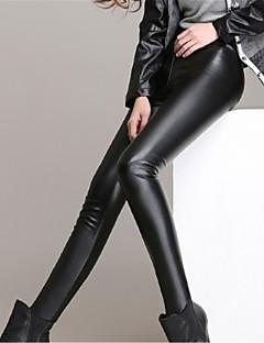 Damen Einfarbig Legging,PU