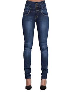 Enkel / Streetchic Jeans Byxor Kvinnors Microelastisk Bomull