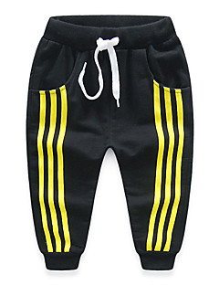 Boy's Cotton Fashion Simple Style Spring/Fall Casual/Daily Solid Color Casual Stripes Sports Long Pants
