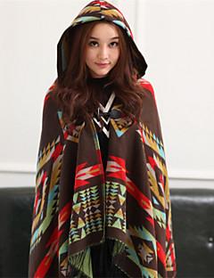 Žena Na běžné nošení Polyester Šátek,Obdélníkový Tisk