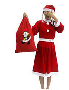 Festival/Højtider Halloween Kostumer Ensfarvet Nederdel Bælte Hatte Jul Kvindelig Pleuche
