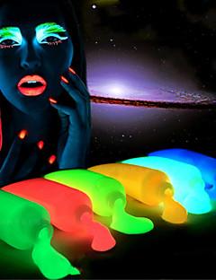 5 Stück von Hand bemalt leuchtenden Glanz Halloween-Nacht Fahrwerks Körperfarbe Leuchtfarbe ungiftig harmlos 5 Stück