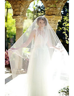 Wedding Veil One-tier Blusher Veils / Cathedral Veils Cut Edge Tulle