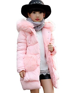 Girl's Casual/Daily Solid Down & Cotton PaddedPolyester Winter Black / Blue / Pink / Red