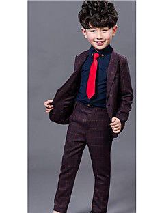 Boys' Formal Solid Sets,Cotton Spring Fall Long Sleeve Suit & Blazer