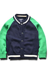 Boy's Casual/Daily Solid Sweater & CardiganCotton Winter / Spring / Fall Green