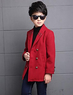 Boy's Solid Down & Cotton PaddedPolyester Winter / Spring / Fall Black / Red