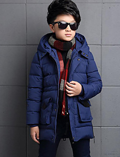 Boy's Casual/Daily Solid Down & Cotton Padded,Polyester Winter Black / Blue / Red