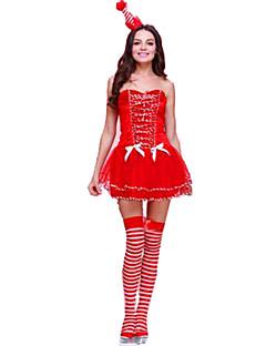 Festival/Højtider Halloween Kostumer Ensfarvet Kjole Hovedtøj Jul Kvindelig Polyester