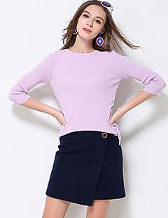 A-linje Nederdele-Dame Plus Størrelser EnsfarvetEnkel Højtaljede Casual/hverdag Mini Lynlås Polyester / Nylon / Uld UelastiskVinter /