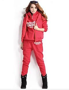 Mulheres Moletom Manga Longa Térmico/Quente Macio Confortável Grossa Calças Moletom Conjuntos de Roupas Blusas para Correr Exercício e