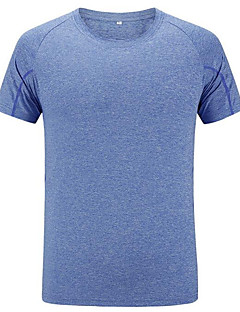 Men's T-shirt / Tops Exercise & Fitness / Racing / Leisure SportsBreathable / Quick Dry / Windproof / Ultraviolet Resistant / Anti-Insect