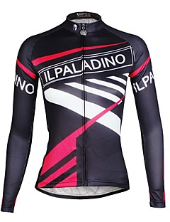 ILPALADINO Pyöräily jersey Naisten koot Pitkä hiha PyöräHengittävä Nopea kuivuminen Ultraviolettisäteilyn kestävä Puristus Kevyet