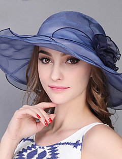 Feminino Chapéu de sol Feminino Vintage / Casual Primavera / Verão Renda