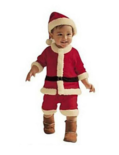 גלימה פסטיבל/חג תחפושות ליל כל הקדושים אדום ולבן אחיד שמלה / צעיף / מגפיים חג המולד נקבה