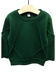 Dreng Hættetrøje og sweatshirt I-byen-tøj / Casual/hverdag Ensfarvet,Bomuld Forår / Efterår Langærmet Normal