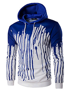 Men's Casual/Daily Sports Active Simple Hoodie Print Shirt Collar Micro-elastic Cotton Long Sleeve Spring Fall
