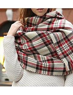 Unisex Na běžné nošení Umělá kožešina Šátek,Obdélníkový Barevné bloky