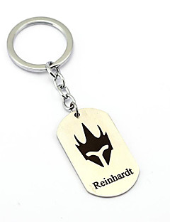 Inspired by Reinhardt Overwatch  Anime Cosplay Accessories Keychain Silver Alloy