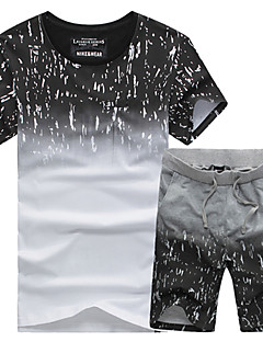 Men's Short Sleeve Running Tracksuit Shorts T-shirt Clothing Sets/Suits Soft Comfortable Spring Summer Fall/Autumn Sports Wear Running