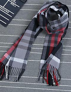 Muž Na běžné nošení Akryl Šátek,Obdélníkový Kostičky