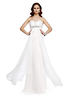 TS Couture Prom Formal Evening Dress - Celebrity Style A-line Sweetheart Floor-length Chiffon with Beading