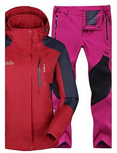 Mulheres Homens Blusas Calças Acampar e Caminhar Esportes de Neve Corrida Impermeável Térmico/Quente A Prova de Vento Isolado Confortável