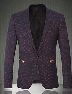 Men's Casual/Daily / Work / Party/Cocktail Vintage / SimplePolka Dot / Color Block Shirt Collar Long Sleeve Fall / Winter PurpleWool /