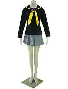 Inspirerad av Cosplay Cosplay Animé Cosplay Kostymer/Dräkter cosplay Suits Enfärgat Kjol / Sjal / Kravatt