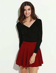 Women's Solid Blue / Red / Black Skirts,Cute Mini Dress